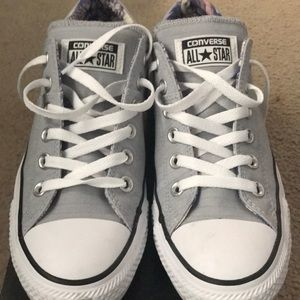 Converse Chuck Taylor's. Size 8 in Wolf Grey.